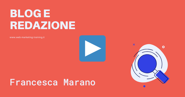 Francesca Marano cover speaker web marketing training