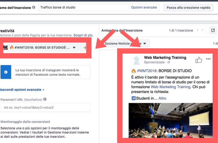Facebook Advertising: come trovare l'id dei post da