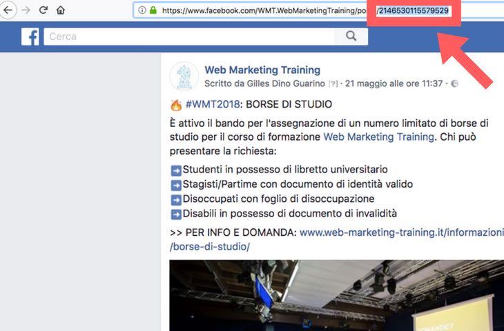 Articolo d'approfondimento su come trovare l'id dei post di Facebook dall'url a cura di Gilles Dino Guarino social media manager