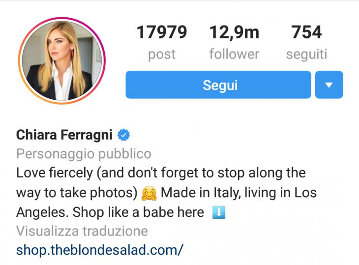 instagram chiara ferragni approfondimento arianna patelli copywriter